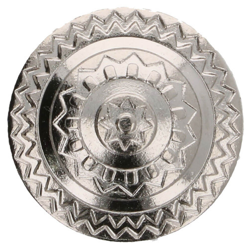Button metal Iceland 15 mm silver