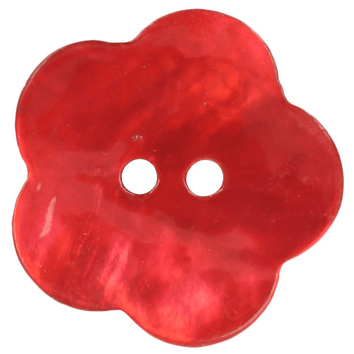 Helmiäisnappi kukka 15mm 722 punainen