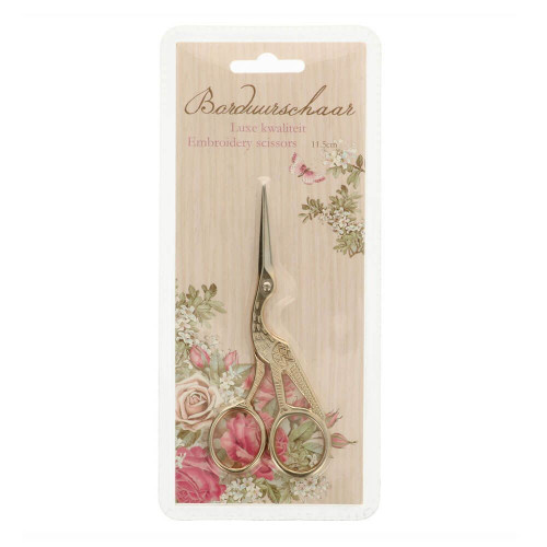 Embroidery Scissors Stork 11,5 gold