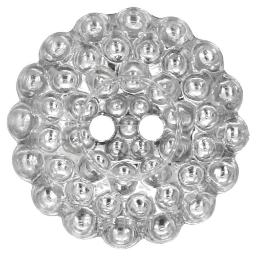 Button silver daisy 20 mm