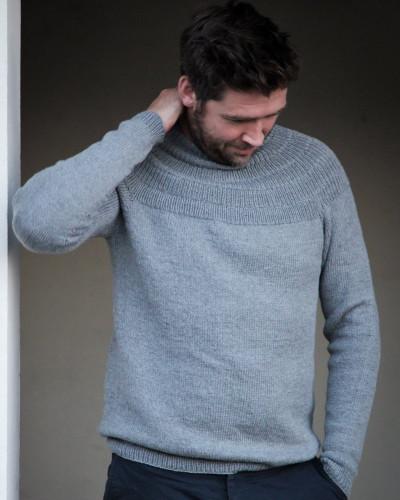Anker's Sweater - My Boyfriend's Size by PetiteKnit pattern English