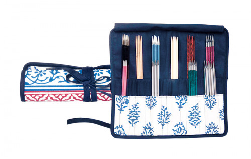 Knit Pro Double Pointed Needle Case Navy