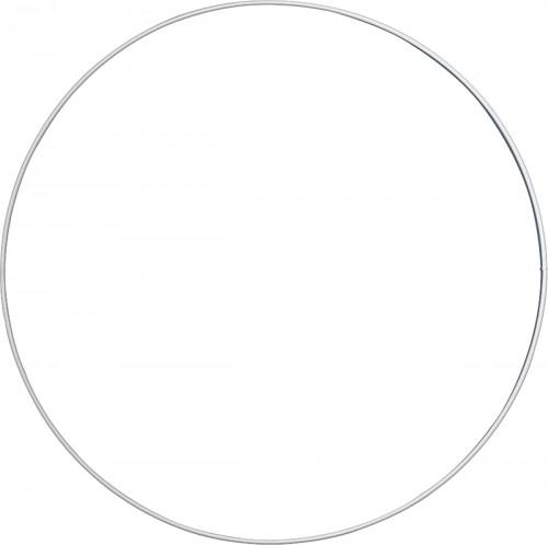 Valkoinen metallirengas 30 cm