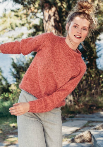 Knit: Easy Raglan Shirt - Free Pattern from Sandnes Garn