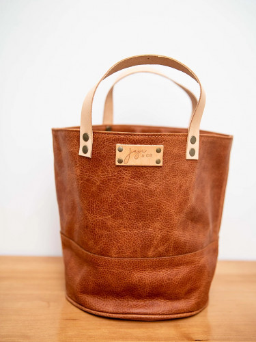 Joji & Co. PAMPA Bucket Bag Brown