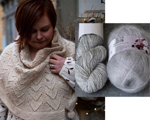 Hallanvaara Cowl Pattern + Yarn Set humu