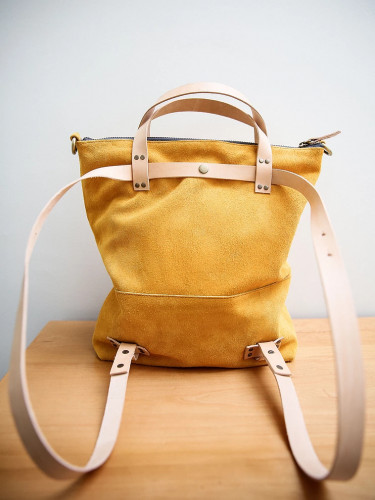Joji & Co. EZE Convertible Backpack Yellow (size 2)