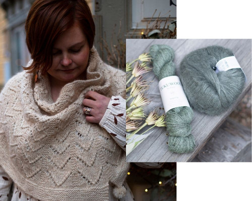 Hallanvaara Cowl Pattern + Yarn Set rohto