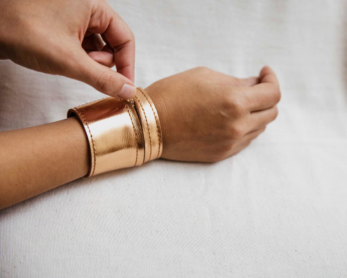 Joji & Co. Metallic Notions Cuff Rose Gold (size 1)