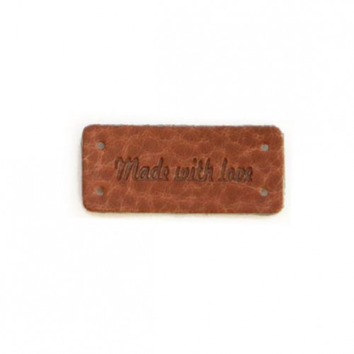Made With Love Tag brown 35x15mm