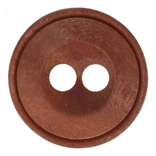 Wood button round, 2 holes, size 32 - 20mm