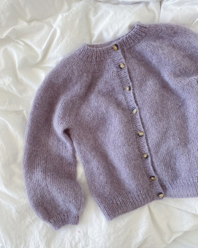 Novice Cardigan Junior - Mohair Edition by PetiteKnit pattern English