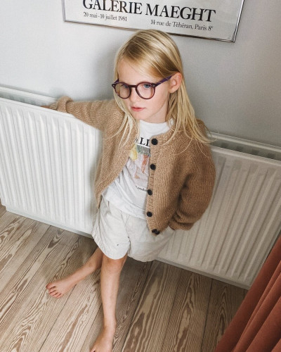 Novice Cardigan JUNIOR - Chunky Edition by PetiteKnit -neuleohje EN