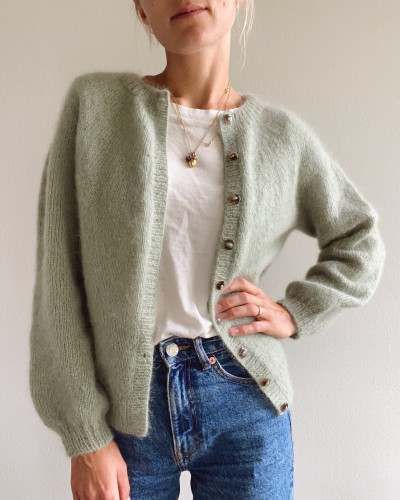 Novice Cardigan - MOHAIR EDITION by PetiteKnit -neuleohje EN