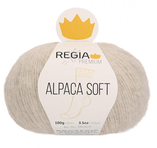 Regia Premium Alpaca Soft 002 natur meliert