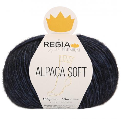 Regia Premium Alpaca Soft 055 nachtblau meliert