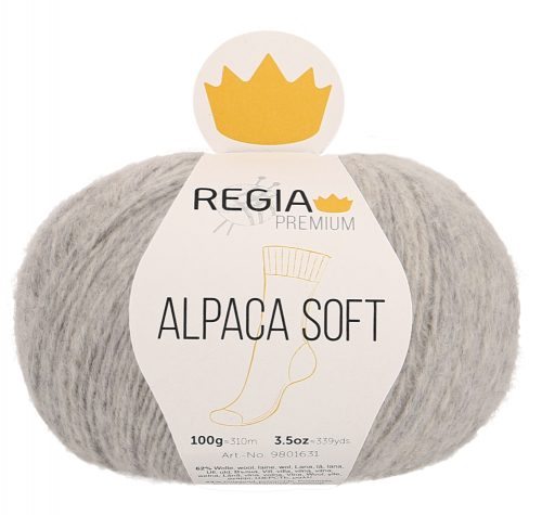 Regia Premium Alpaca Soft 090 hellgrau meliert