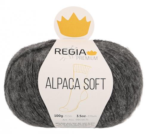 Regia Premium Alpaca Soft 095 anthrazit meliert