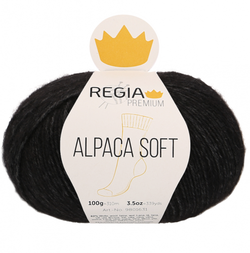 Regia Premium Alpaca Soft 099 schwarz meliert