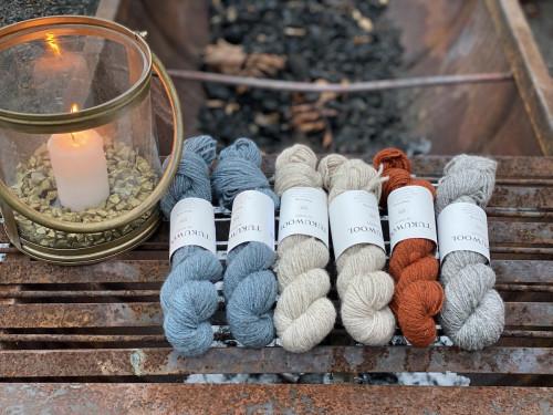 Hopeatiuku by Heidi Alander, Yarn kit 2