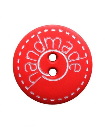 Button Handmade 18mm red - Art.-Nr.: 261411