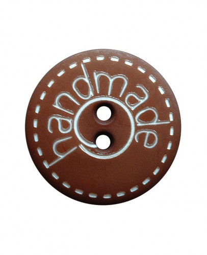Button Handmade 18mm brown - Art.-Nr.: 261407
