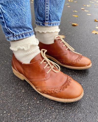 Ruffle Socks by PetiteKnit -neuleohje EN