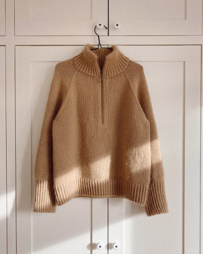 Zipper Sweater Woman by PetiteKnit -neuleohje EN