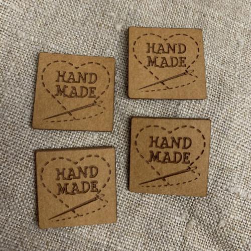 Handmade Tag 20 mm square 0500936 0182