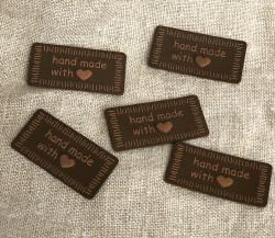 Handmade Tag 40mm brown - Art.-Nr.: 0500971 0020