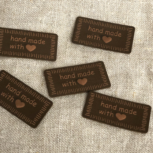 Handmade Tag 40mm brown 0500971 0020