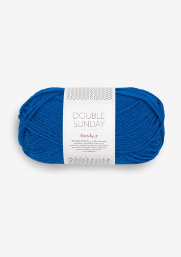Sandnes Garn DOUBLE SUNDAY PetiteKnit 6046 Electric Blue