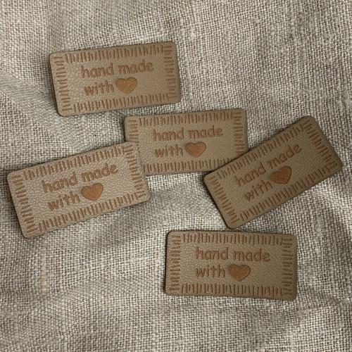Handmade -merkki 40mm beige 0500971 0016