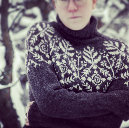Suolaulu talvi-neuleohje, printti FI