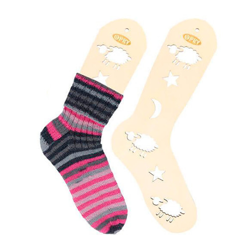 Opry sock blocker pair, natural wood, size L