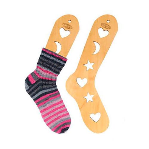 Opry sock blocker pair, brown wood, size S