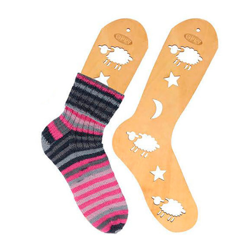 Opry sock blocker pair,  brown wood, size L