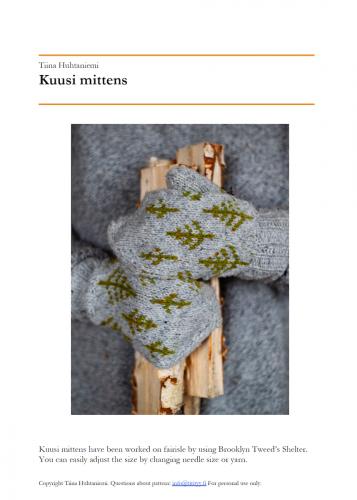 Kuusi Mittens Pattern PDF English