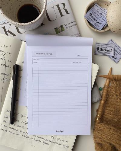 "PetiteKnit ""Knitting Notes""-muistilehtiö A5"