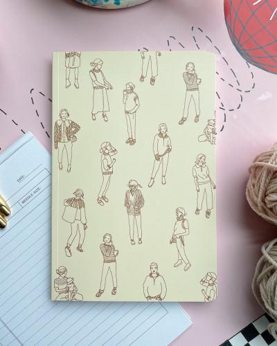 "PetiteKnit ""Knitting Journal - Petit Signatur""-muistilehtiö"