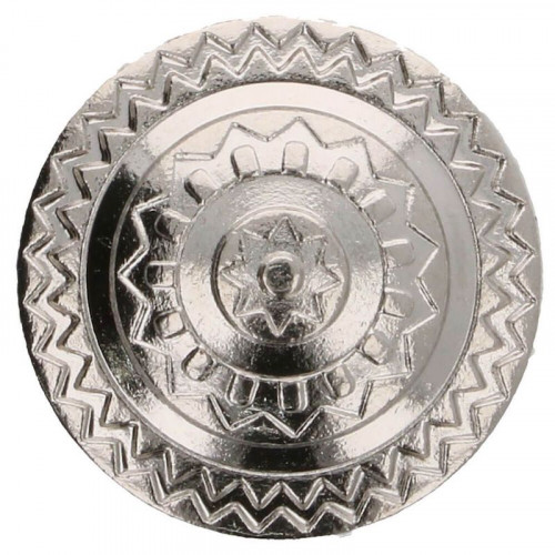 Button metal Iceland 17,5 mm silver