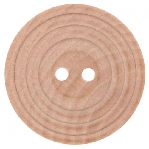 Wood button beige 17.50mm