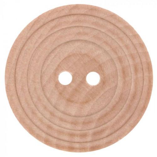 Wood button beige 25mm