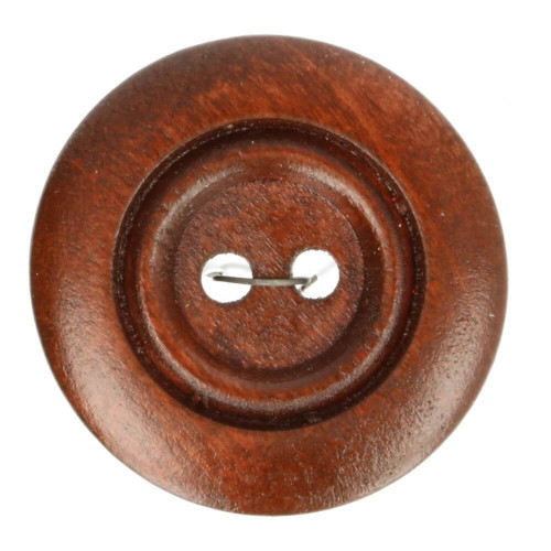Wood button round rosewood 25mm