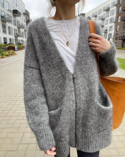 Zipper Jacket by PetiteKnit -neuleohje EN