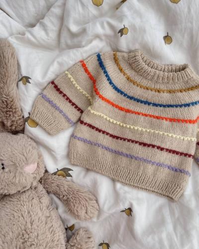 Festival Sweater BABY by PetiteKnit -neuleohje EN