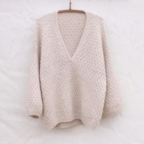 Cardi V-Neck Yarn Set S-M
