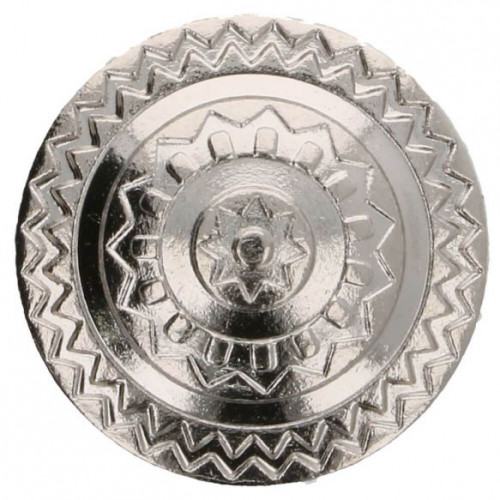 Button metal Iceland 20 mm silver