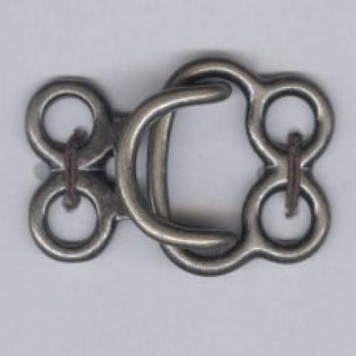 Hakanen 41 mm patinoitu hopea