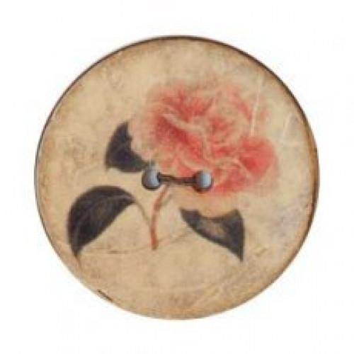 Kookosnappi 25 mm valkoinen ruusu